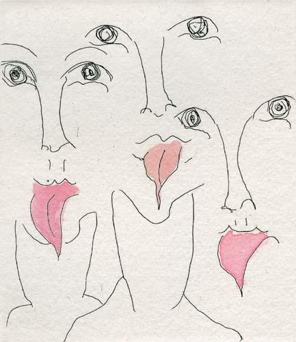 Carol Rama, Malelingue